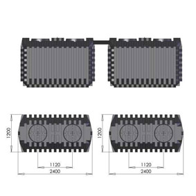 deutsche dewatec batchplus rechteckig f r 8 einwohner vollbiologische kleinkl ranlage. Black Bedroom Furniture Sets. Home Design Ideas